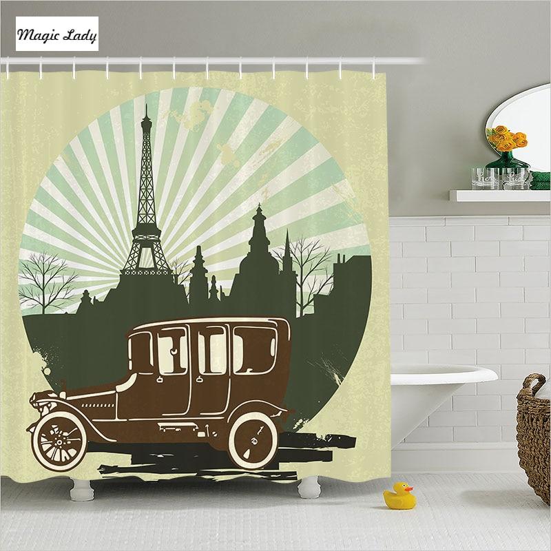 Classic Home Decor Pieces: Shower Curtains Paris Bathroom Accessories Classic Retro