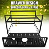 New Open Air Mining Rig Push Pull Frame Miner Case For 6 GPU ETC BTH New
