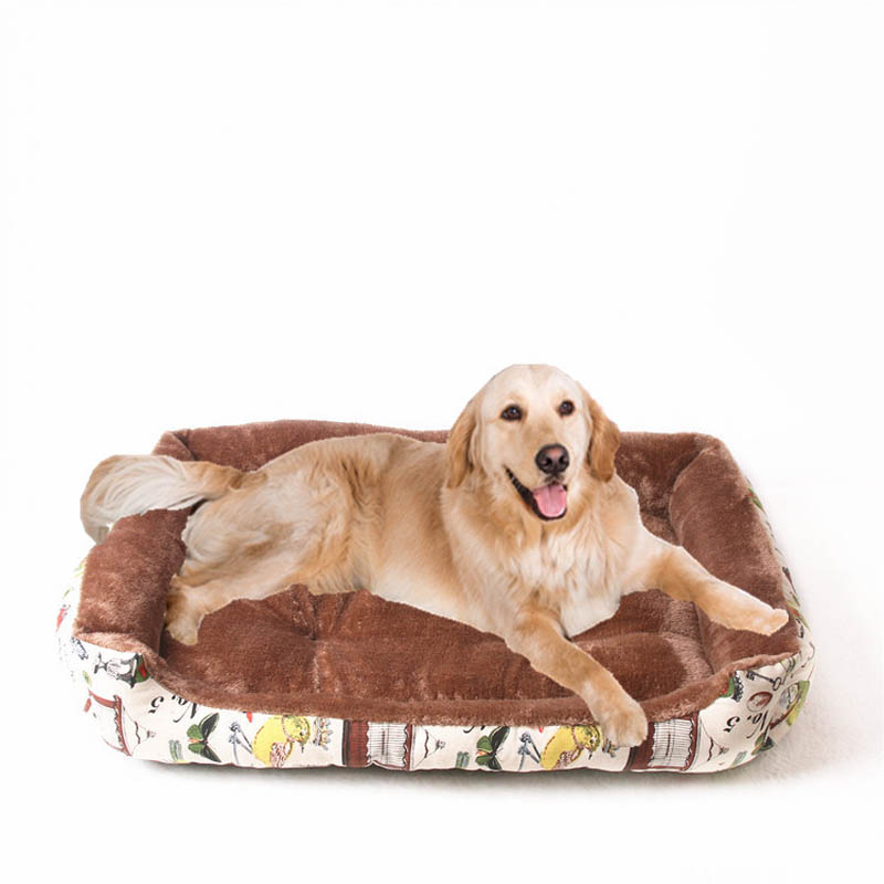 Plush Dog Bed for Small Medium Large Dogs with Removable