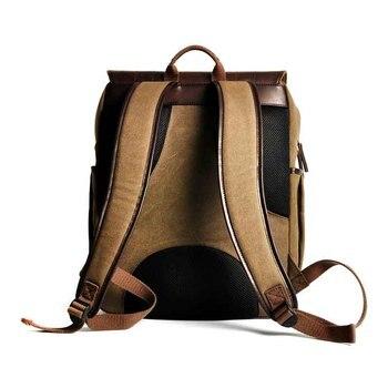 Nueva mochila para cámara DSLR, cámara Digital, Vídeo fotográfico, resistente al agua, lona marrón, fotografía, bolsas para exteriores, Sony, Nikon, Canon, Pentax