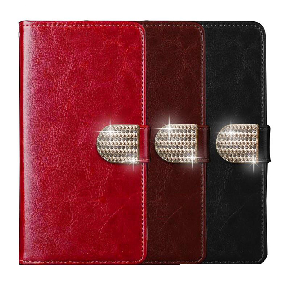 For Fly IQ4505 ERA Life 7 Quad Wallet Case with Card Slot Luxury PU Leather Retro Flip Cover Magnetic Fashion Cases