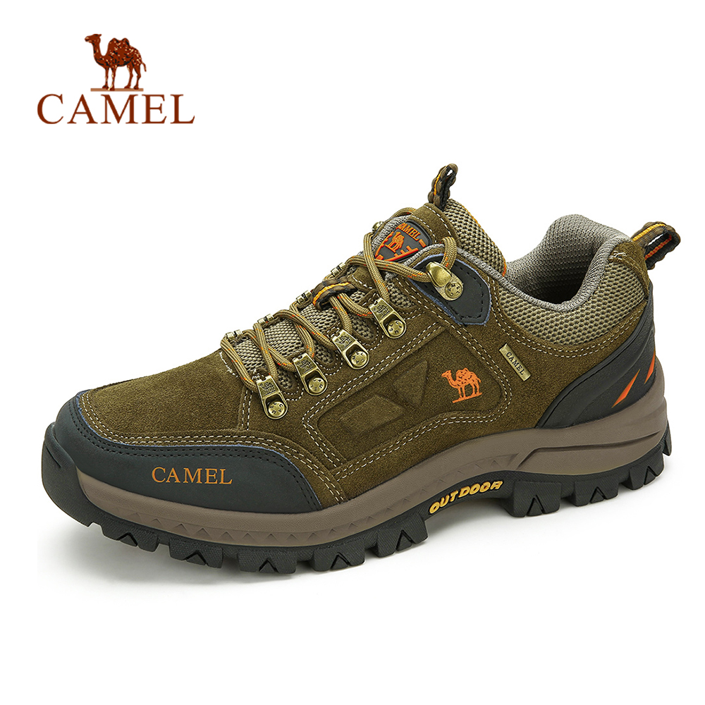 CAMEL Men Women Outdoor Hiking Shoes Anti-Slip Durable Breathable Trekking Shoes High Quality Mountain Climbing Shoes