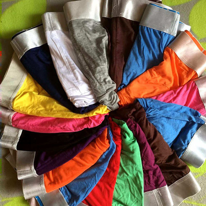10PCS Lot Bulge Pouch Panties Modal Breathable Softy Cotton Mid Rise Hip Mens Underwear M XXL Men Boxers CPNK 001