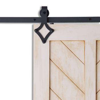 Diamentowe czarne drzwi przesuwne zestaw narzędzi do pojedynczych drzwi podwójne drzwi