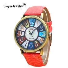 Fabric Big Size Women Luxury Watches Small Dials Decoration Female Quartz Dress Watch Casual Denim Wristwatch Relogio Masculino