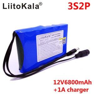 Image 3 - LiitoKala Portable Super 18650 Rechargeable Lithium Ion batterie capacité cc 12 V 6800 Mah CCTV Cam moniteur 12.6V 1A chargeur