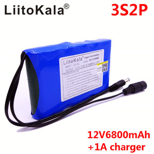 Image 3 - LiitoKala Portable Super 18650 Rechargeable Lithium Ion battery pack capacity DC 12 V 6800 Mah CCTV Cam Monitor 12.6V 1A Charger