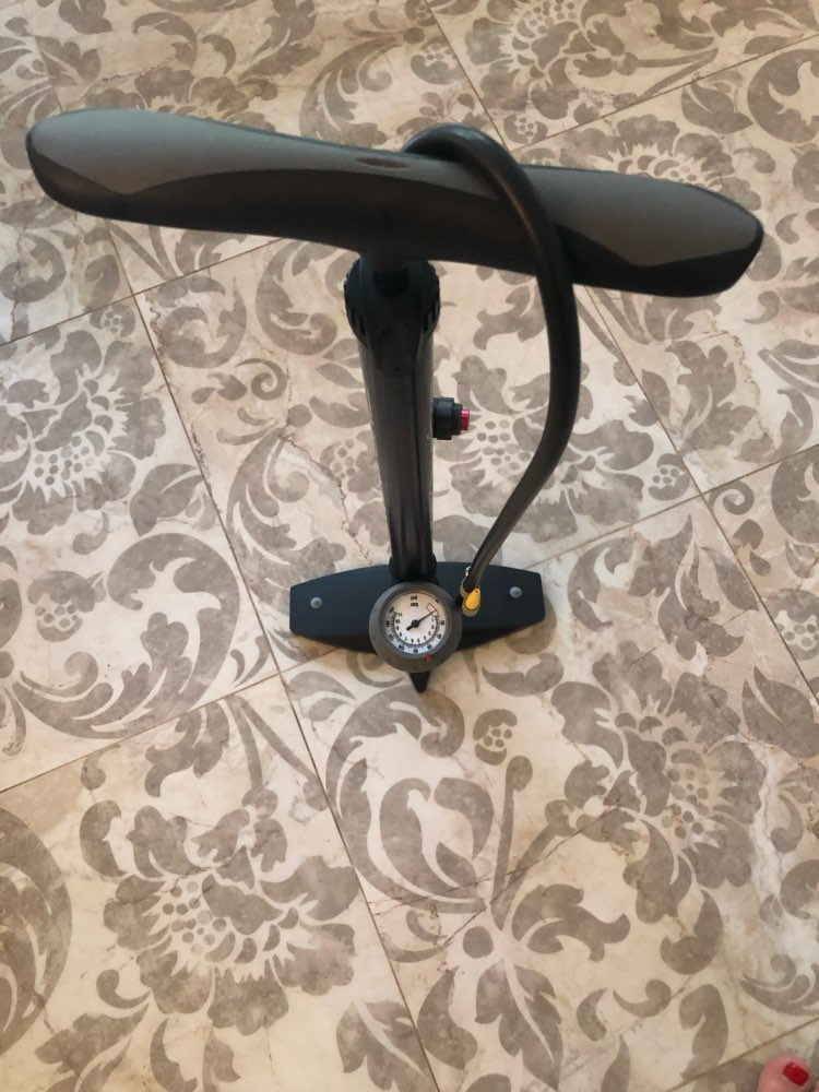Giyo Bike Floor Pump With Gauge Presta Schrader Valve Adapter 160Psi Foot Bicycle Pump Air Inflator Tire Pump Road MTB Bike Pump
