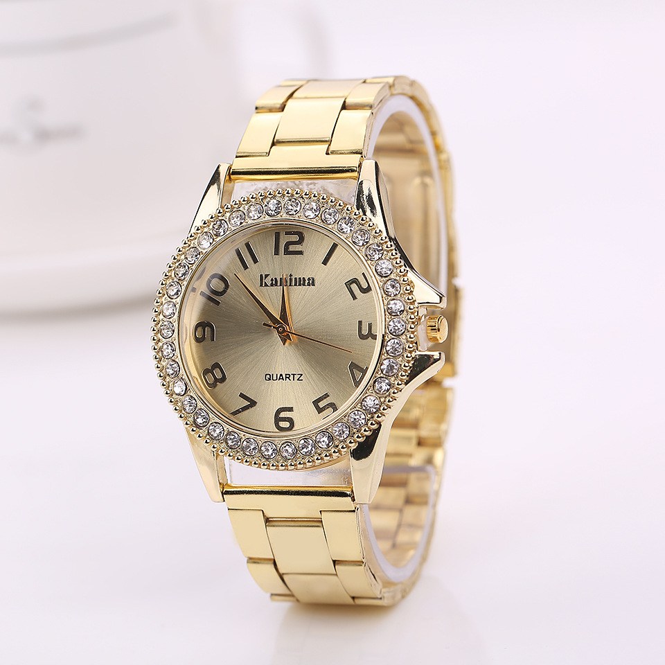 KANIMA Lovers Quartz Watches Women Men Gold WristWatches 2018 Top Brand Luxury Female Male Clock Golden Steel Watch Montre Femme chenxi men gold watch male stainless steel quartz golden men s wristwatches for man top brand luxury quartz watches gift clock