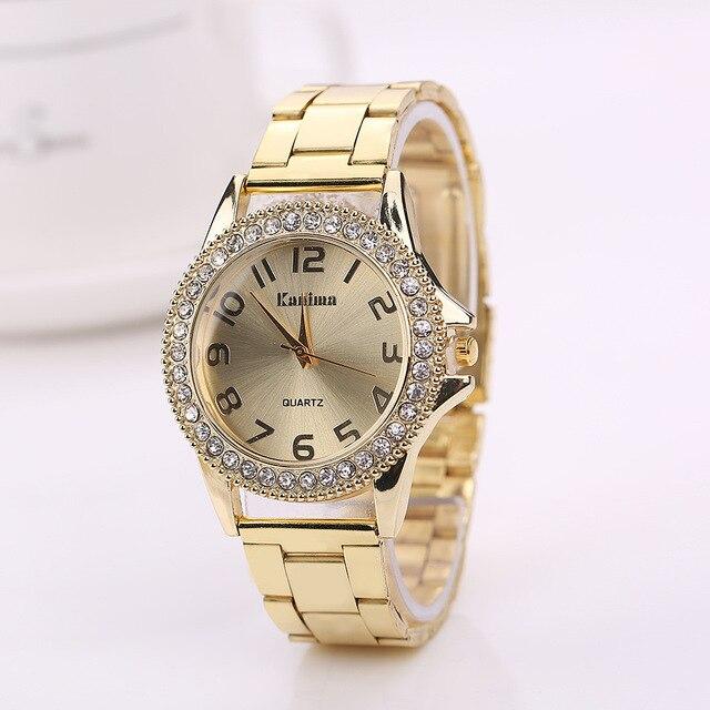 KANIMA Lovers Quartz Watches Women Men Gold WristWatches 2018 Top Brand Luxury F