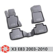 Коврики для BMW X3 E83 2003-2010 Нескользящие полиуретановые предохранение от грязи интерьерные Аксессуары для автомобилей