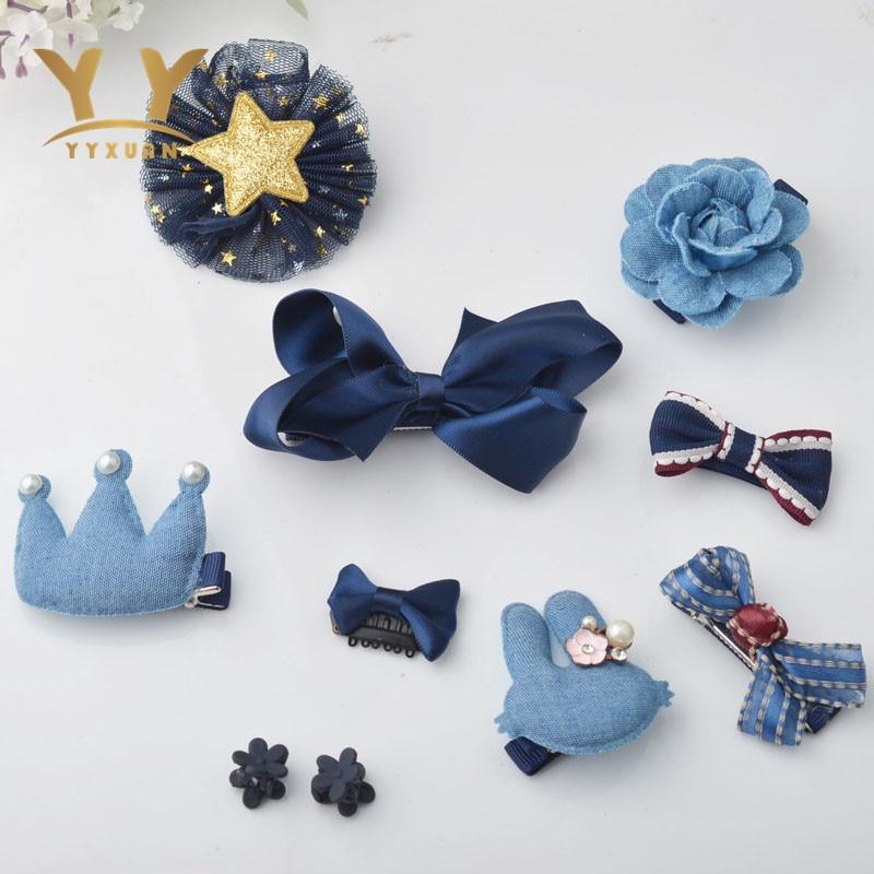 10 piece Kids Cute Headwear Satin Flowers Headband Full Cover Clips Girls Hair Accessories Styling Decorations zambaiti satin flowers 2214