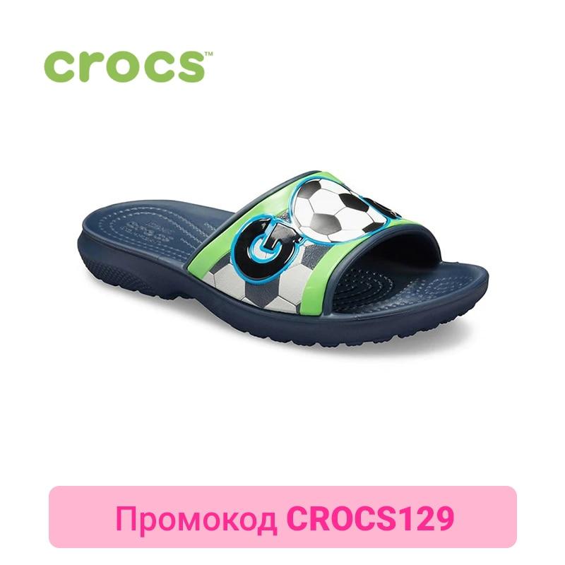 CROCS CrocsFL Sports Fan Slide K KIDS or boys/for girls, children, kids шлепанцы для девочки crocs classic slide k цвет розовый 204981 6x0 размер c12 29 30
