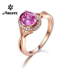 Ani 18k розовое золото (au750) женское свадебное кольцо с бриллиантом