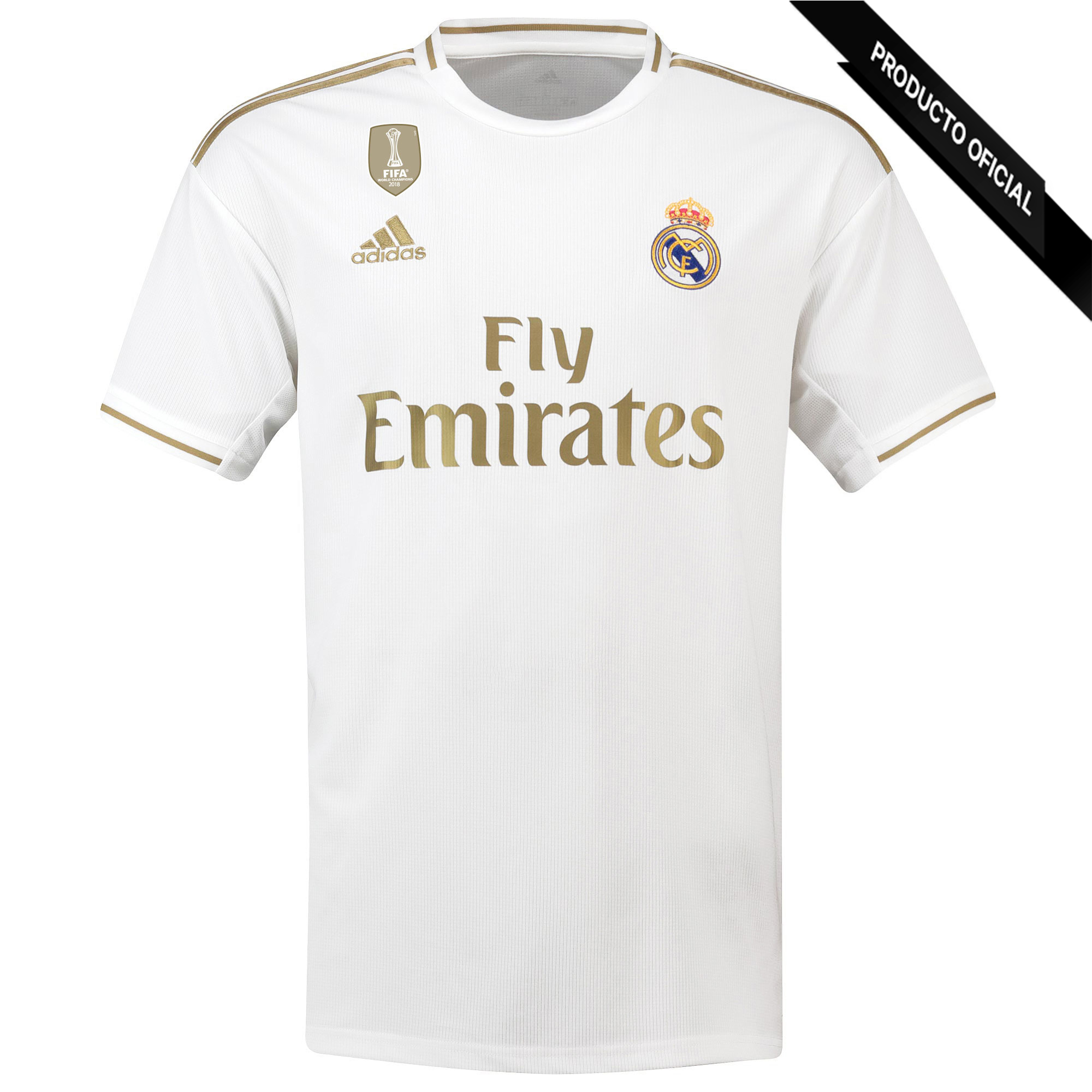 ADIDAS T le 1 'away Real Madrid 2019-20 couleur blanc et or Dorsal danger football vêtements marque officiel