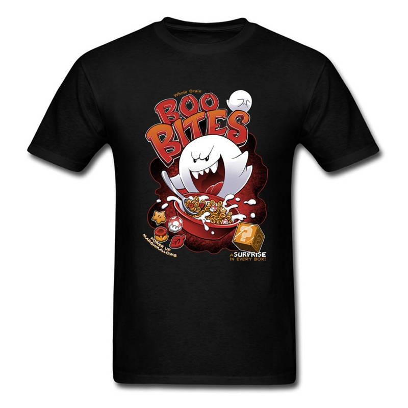 Tee Shirt Logo MenS Short Printing Drawing Boo Bites Evil Demon Crew Neck Christmas Shirt ...