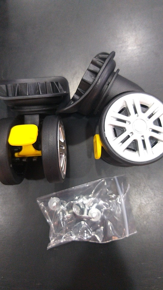 Vervanging bagagewielen voor koffers repareren hand spinner zwenkwielen onderdelen trolley vervanging rubber A18-JYSCL photo review