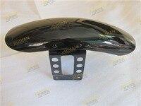 Front Mudguard Wheel Fender Cover For Harley Davidson Sportsters XL883 XL1200 N R L (35cm) Glossy Black