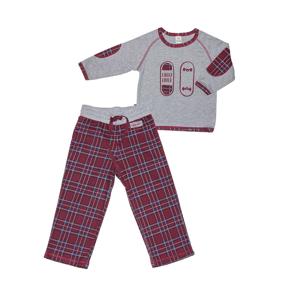 Pajama Sets Lucky Child for boys 13-400 (3T-8T) Children clothes kids clothes spring clothes new pattern girl korean trend fashion leisure time letter girl child cowboy 2 pieces kids clothing suits sets