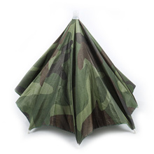 Outdoor Umbrella Hat  Sun Shade Camping Fishing Hiking Festivals Outdoor Camouflage Umbrella UV Protection