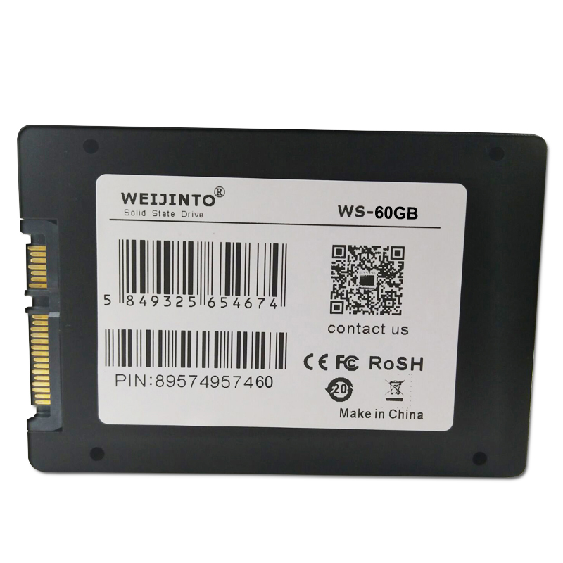 WEIJINTO SATAIII SATA3 SSD 60GB Solid State Hard Drive Disk 64GB & 2.5 SSD To 3.5 Metal Mounting Adapter For Desktop weijinto sata ssd 60gb 2 5 hard drive disk disc solid state disks internal 60gb ssd 64gb