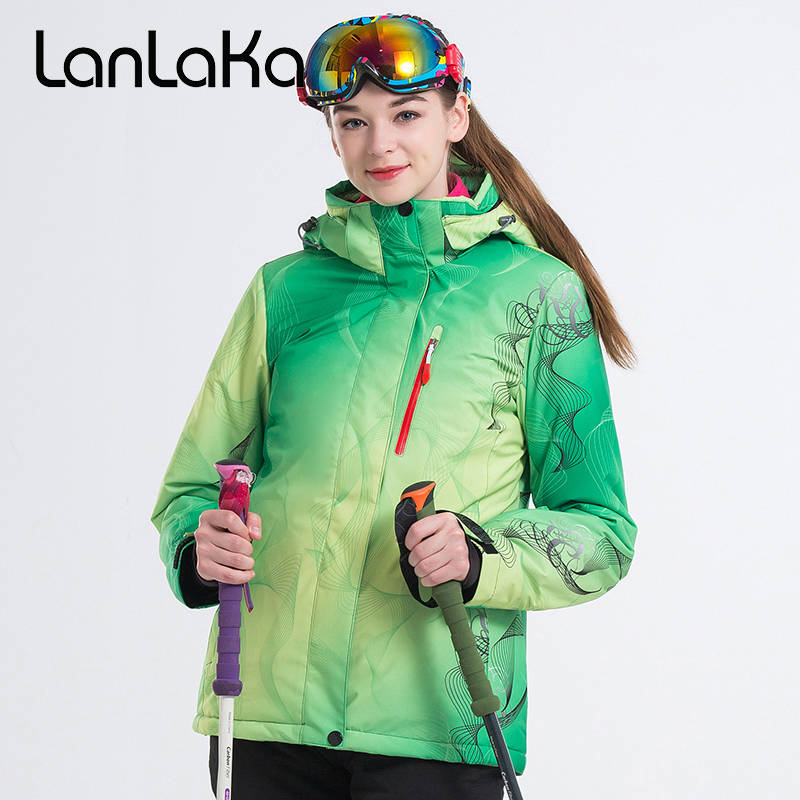 LANLAKA Brand Women Ski Jacket Winter Jacket Outdoor Sport Wear Skiing Snowboard Riding Windproof Waterproof Clothing Female New