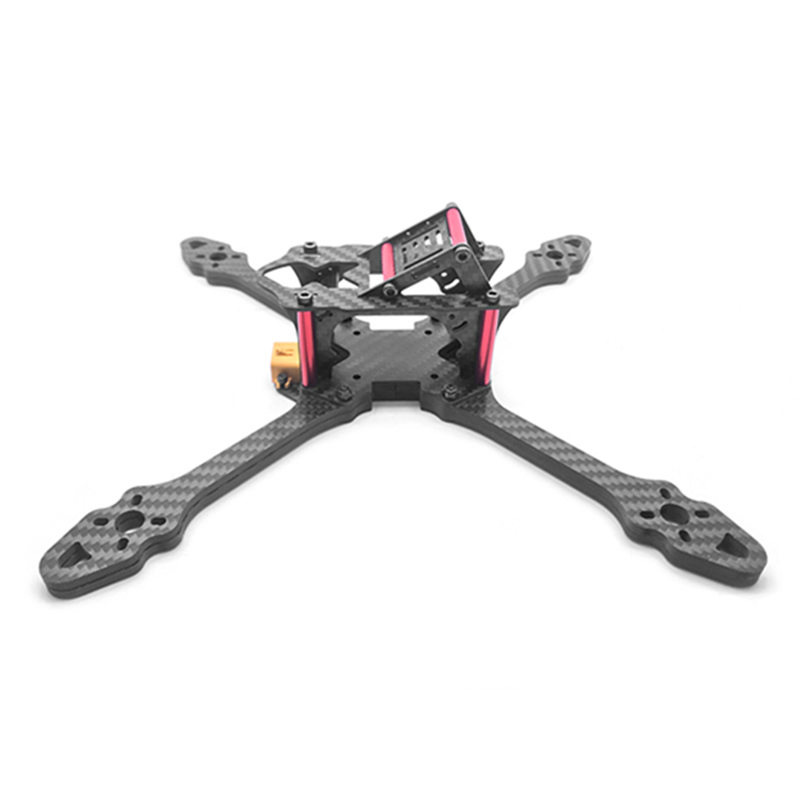 EXUAV 240mm Carbon Fiber 7mm Arm Frame Kit W/ XT60 Connector for RC Models Multicopter Racing Drone Spare Parts jmt j510 510mm carbon fiber 4 axis foldable rack frame kit with high tripod for diy helicopter rc airplane aircraft spare parts