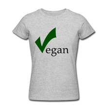 "Vegan ""V check"" girlie / women's shirt"