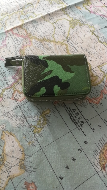 KEVIN YUN Designer Merk Mode Camouflage Gedrukt Vrouwen Kaarthouder Split Lederen Grote Capaciteit Creditcard Case Portemonnee photo review