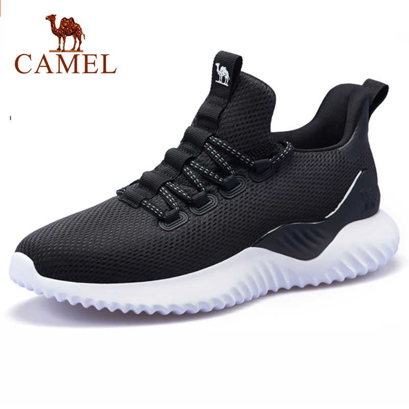 CAMEL Men Yeezys Running Shoes Running Sneaker Lightweight Breathable Anti-Slip Shock-absorbent Stability Outdoor Fashion Sports