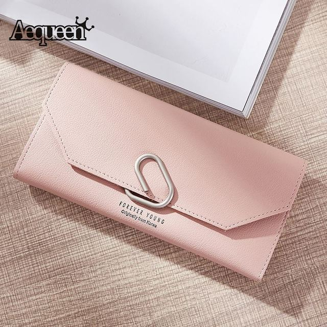 28ee83049e3f AEQUEEN Cute Ring Wallet Women Long Wallets PU Leather Coin Purse Lady  Clutches Sweet Korean Style Purses For Girls Card Holder