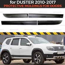 Защитные молдинги дверей для Renault/Dacia Duster 2010- 1 комплект/4 p Пластиковые ABS защитные накладки для стайлинга автомобилей