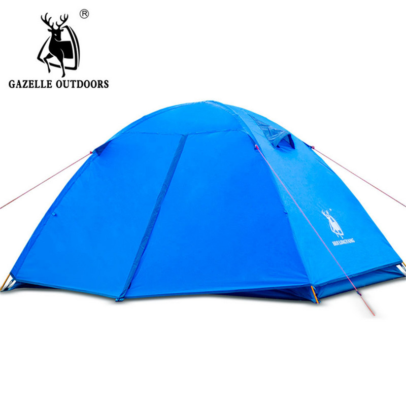 Ultralight Tent 2 Person Double Layer Waterproof Outdoor Lightweight Camping Tent 3 Seasons Fishing Beach Tent цена