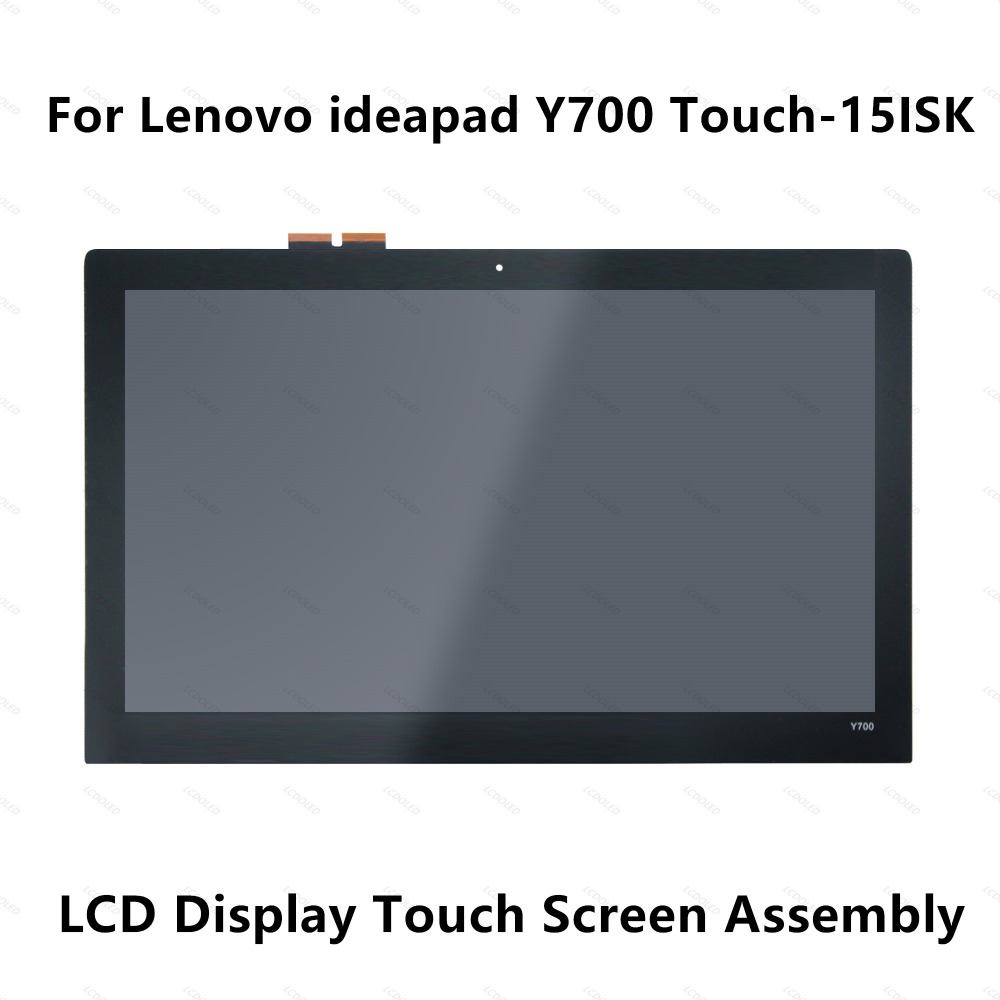 15.6 LCD Display Touch Digitizer Glass Screen Assembly with Frame For Lenovo Laptop Ideapad Y700 15ISK 1920x1080 & 3840x2160 4K