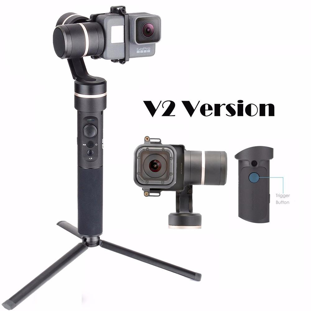 Feiyu G5 V2 Updated 3 Axis Splash Proof Handheld Gimbal for GoPro Hero 6 5 4 3 Session Yi Cam 4K AEE Action Cameras Mini Tripod wewow sport x1 handheld gimbal stabilizer 1 axis for gopro hreo 3 3 4 smartphone iphone 7 plus yi 4k sjcam aee action camera