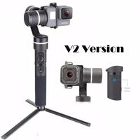 Feiyu G5 V2 Updated 3 Axis Splash Proof Handheld Gimbal for GoPro Hero 6 5 4 3 Session Yi Cam 4K AEE Action Cameras Mini Tripod