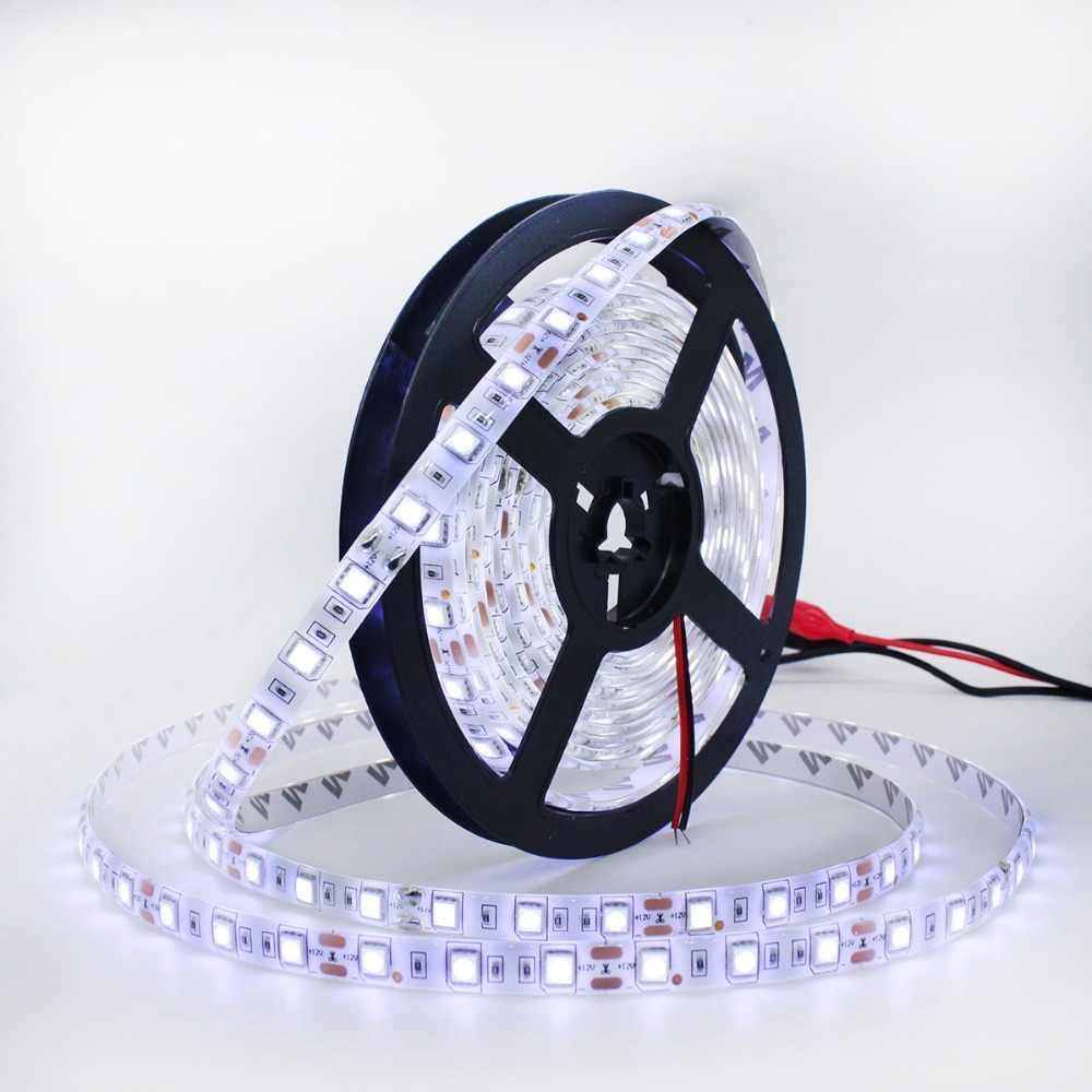 SMD 5050 LED bande 5 M 60 LED/m DC 12 V LED ruban Flexible ruban Diode ruban RGB blanc chaud blanc rouge vert bleu RGBW RGBWW LED lumières
