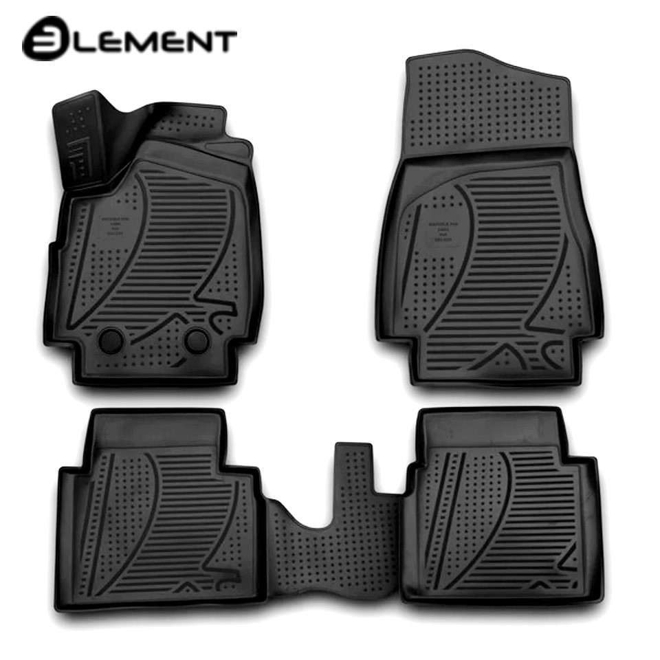For Lada Niva 2121 4x4 3-doors 3D Floor mats into saloon 4 pcs/set 2009-2017 Element F320250E1 3d floor mats for lada largus element f620250e1