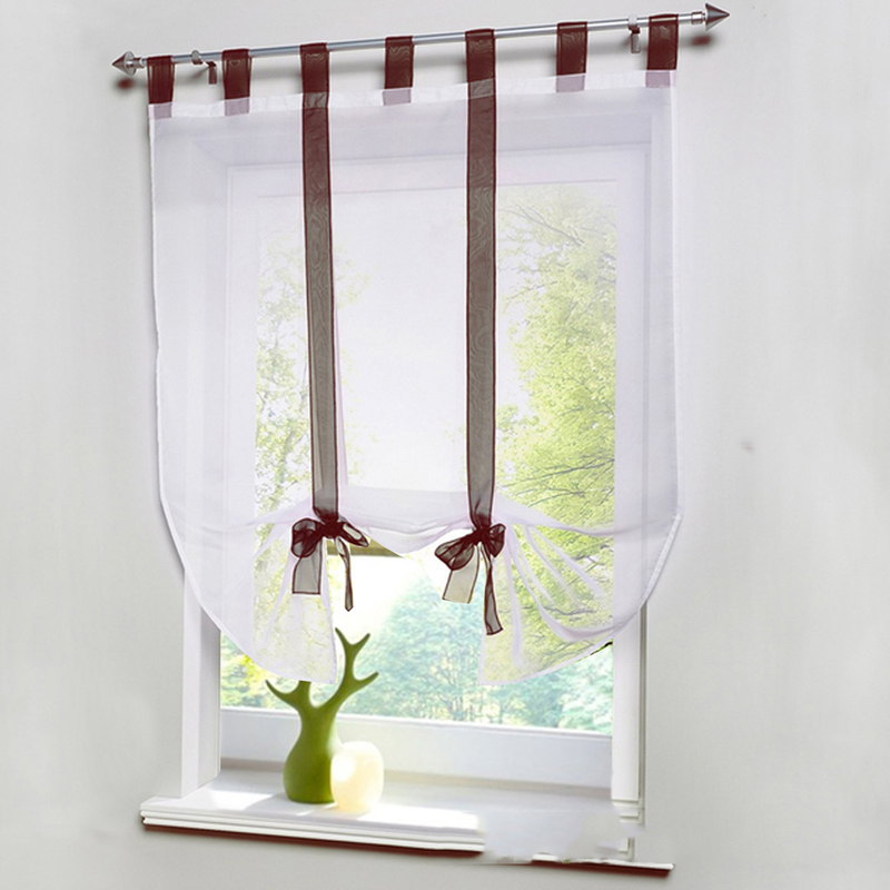 5 Colors Ribbon Roman Curtain Blind Home Wave European Colors Living Room  Balcony Voile Panel(