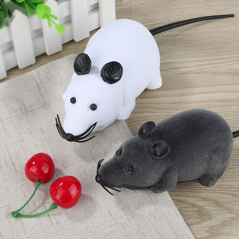 New 8 Colors Cat Toys Remote Control Wireless Simulation Plush Mouse RC Electronic Rat Mouse Mice Toy For Pet Cat Toy Mouse