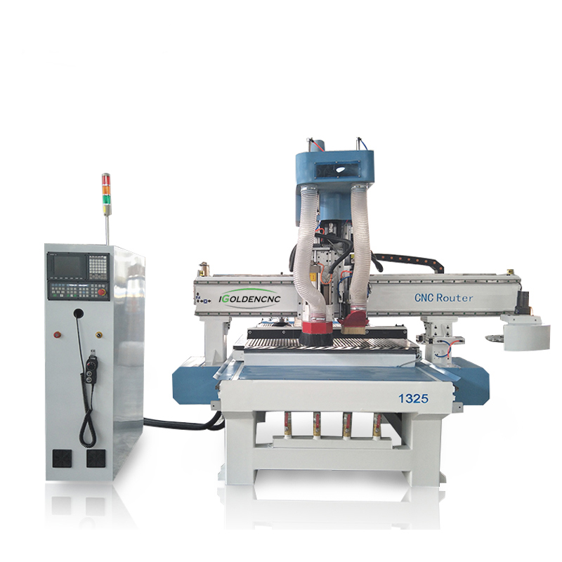 CNC Nesting 1325 Atc CNC Router With Boring Head For Cabinet Furniture Drilling Slotting Engraving Cutting