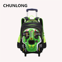 CHUNLONG Child Wheel Bag Travel Trolley Bag Children School Bag Alleviate Burdens Unisex Kids Backpacks For