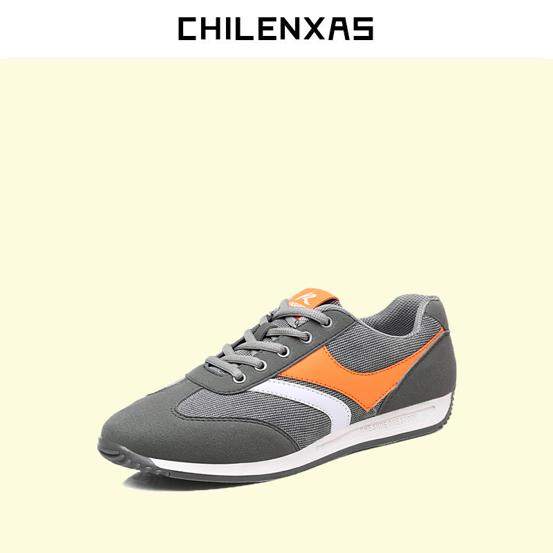 CHILENXAS 2017 Autumn Winter Available Leather Men Casual Shoes Lace up British Style Breathable New Fashion Comfortable Solid men leather shoes comfortable breathable shoes doug tide set foot casual shoes new autumn winter british retro