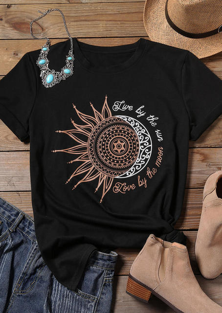 Live By The Sun….Love By The Moon Graphic Tee