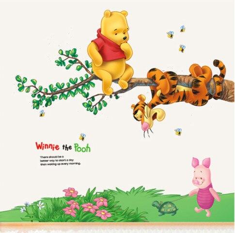 Animais Dos Desenhos Animados Winnie Urso Pooh Adesivo De Parede