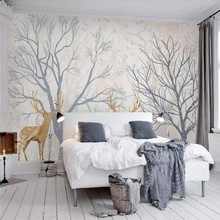 Creative simple TV background wall professional production mural factory wholesale wallpaper poster photo
