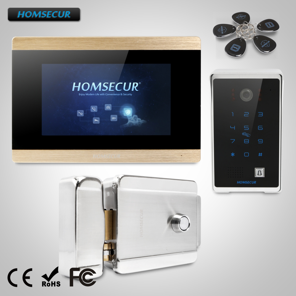 HOMSECUR 7 Wired Video Door Entry Security Intercom Electric Lock+Keys Included  BC081+BM715-GHOMSECUR 7 Wired Video Door Entry Security Intercom Electric Lock+Keys Included  BC081+BM715-G