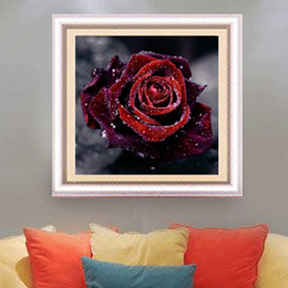 Neue 5D Gemalte Wohnzimmer Voll Harz Nachahmung Diamant Rose Aufkleber Punkt Kreuzstich StickereiChina