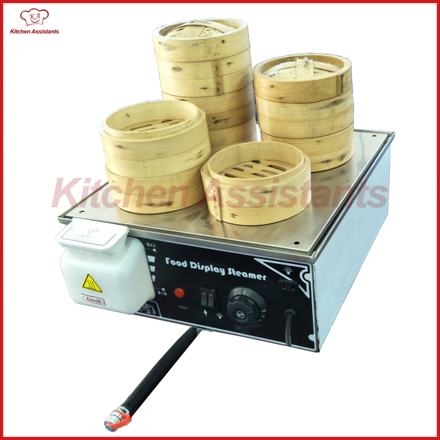 KA500D 4 Mini Electric Chinese Bun Steamer Food Steamer With 4 Steam Outlet