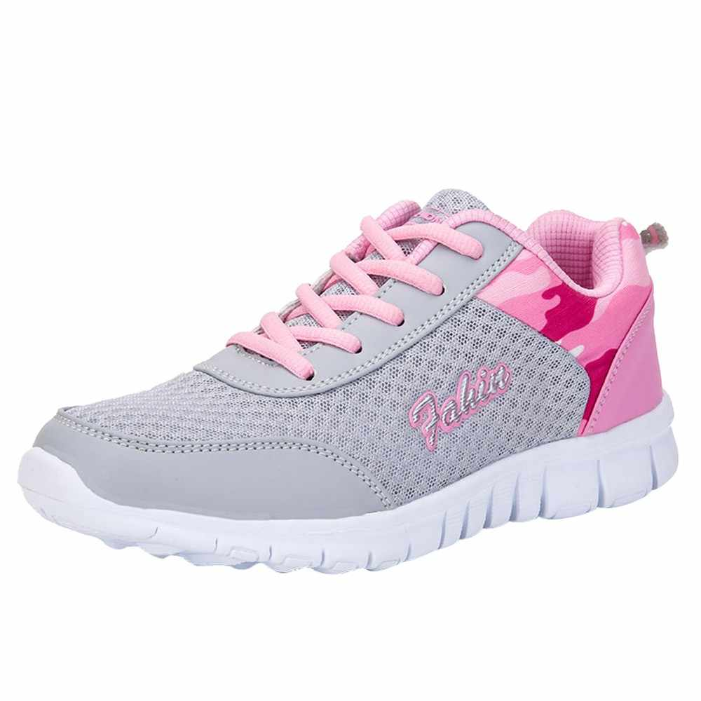 YOUYEDIAN kadın sneakers Örgü Lace Up platformu sneakers Şeker Renk Yuvarlak Ayak Bayanlar Ayakkabı Nefes Sneakers Zapatillas Mujer